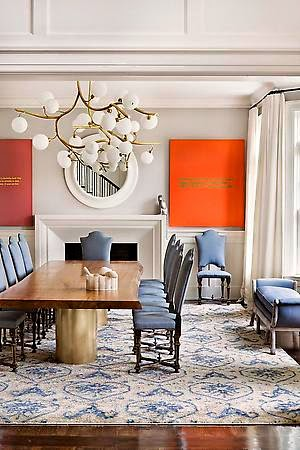 Julie Hillman design dining room via belle vivir blog