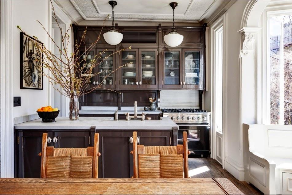 Jenna Lyons brooklyn Brownstone kitchen after via belle vivir blog