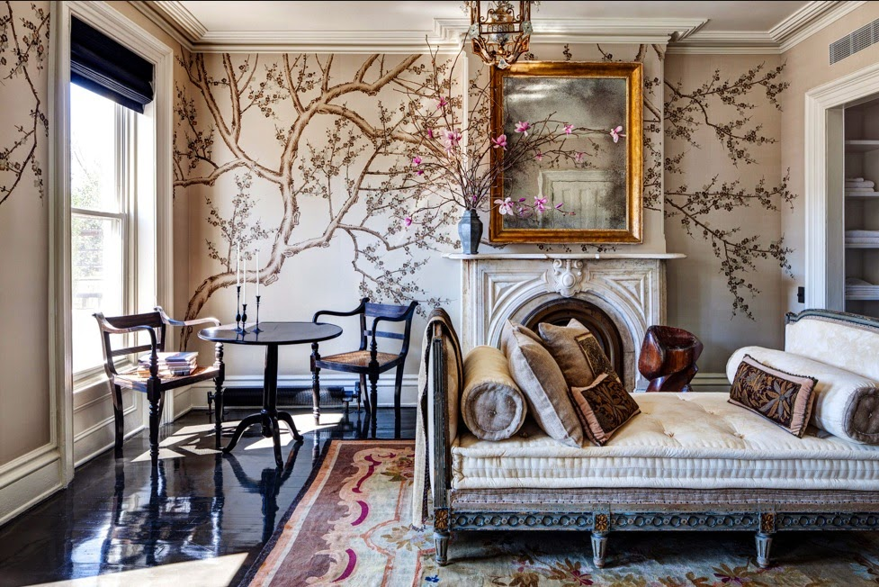 Louis Xvi Daybed Hand Painted Wallpaper From Fromental