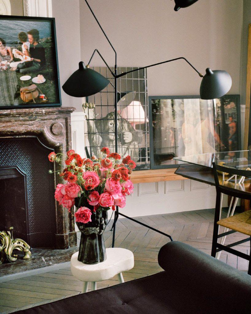 Giambattista Vali Apartment in Paris fireplace