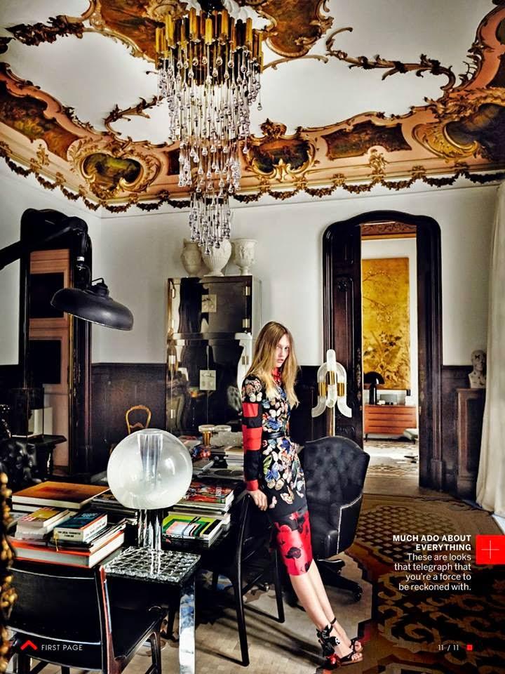 Vogue Editorial Inside Lazaro Rosa Violan House office via belle vivir blog