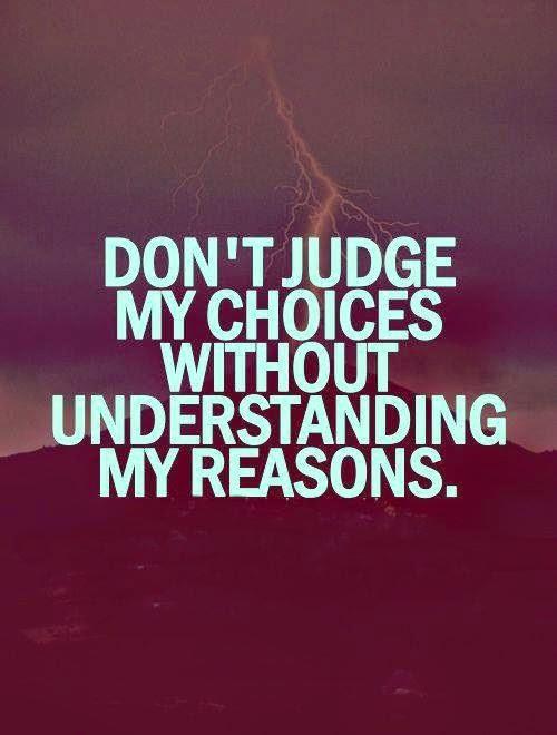 no judgement quote