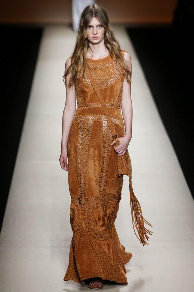 alberta Ferretti suede dress via belle vivir