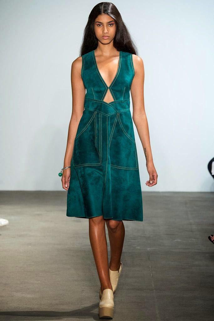 Dereck Lam suede dress via belle vivir