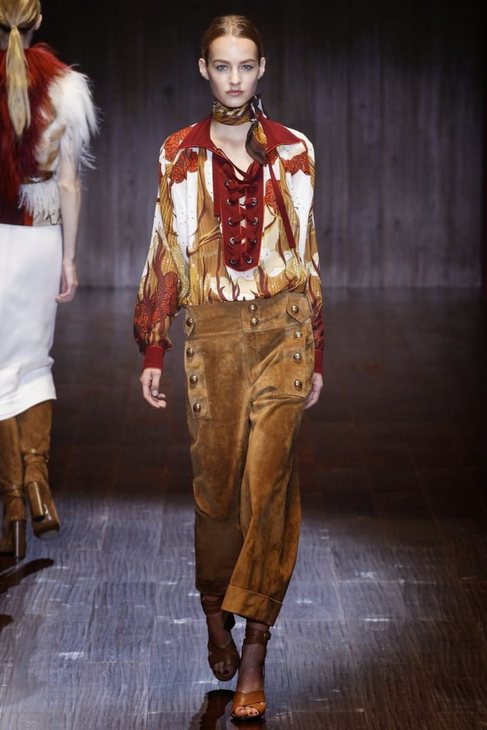 suede pants by gucci 2015 collection via belle vivir blog