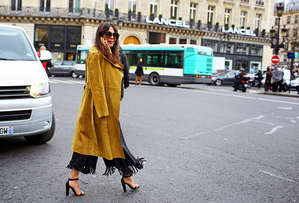 street style suede long jacket via belle vivir