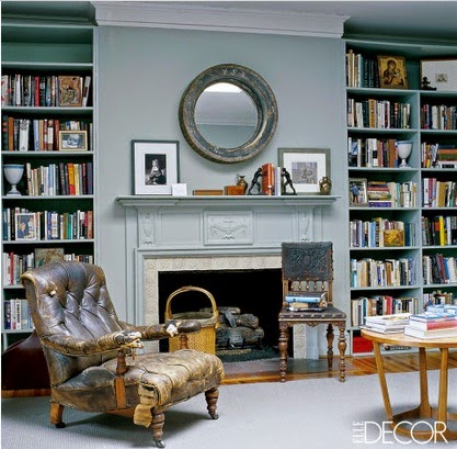 The most beautiful home libraries with fireplace via belle vivir
