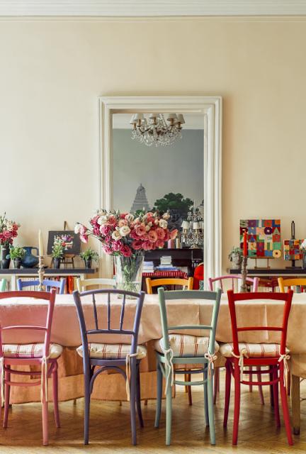 Ines de la Fressange dining room