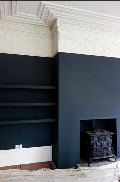 european design half painted wall via belle vivir