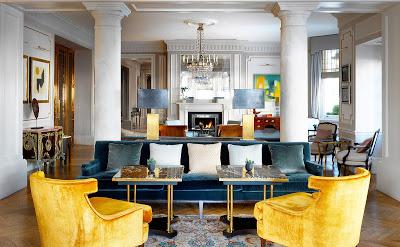 The Kensington Hotel Facade cafe via Belle Vivir blog