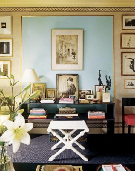 color black in Interiors, albert hadley living room vignette the use of black in interiors via belle vivir blog