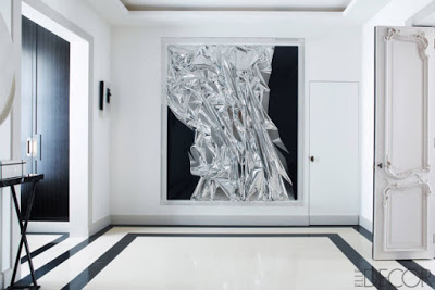 color black in Interiors, black and white modern entryway the use of black in interiors via belle vivir blog