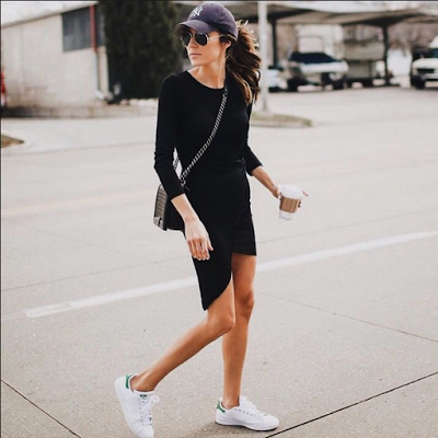 adidas sneakers with black dress