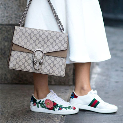 gucci sneakers and bag