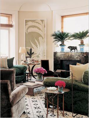 color black in Interiors, Mathilde Agostinelli living room the use of black in interiors via belle vivir blog