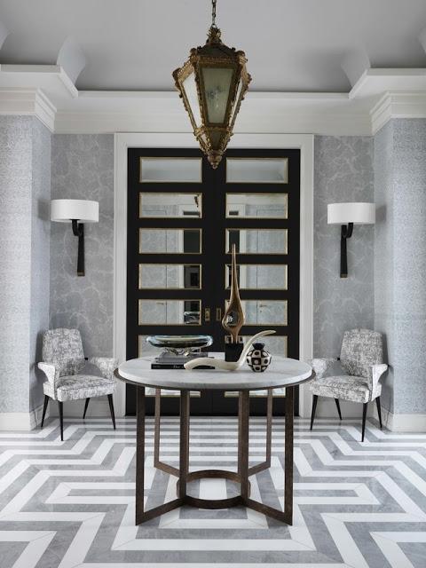 Jean Louis Deniot entryway the use of black in interiors via belle vivir blog