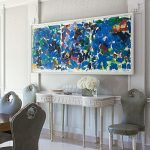 Monday Blues: Interiors with blue abstract paintings