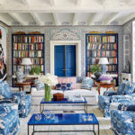 Monday Blues:  A Blue Living Room with Iznik Walls