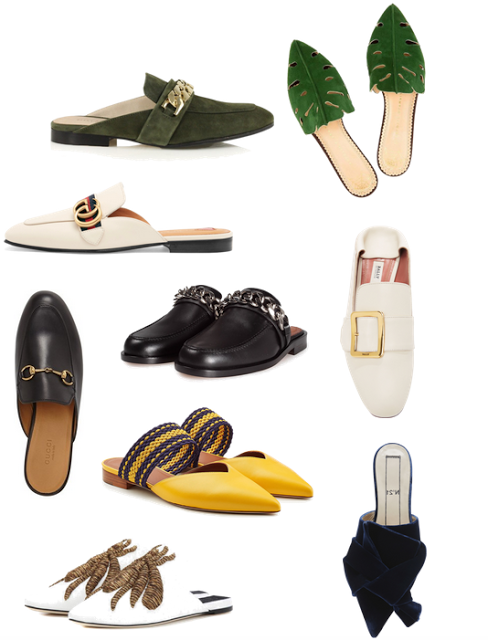 embelished mules shoes for weekend