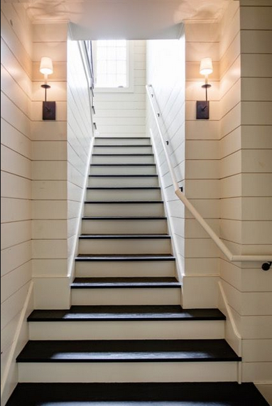 Decorate Shiplap Ideas, staircase with shiplap-bellevivir