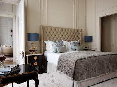 The Kensington Hotel suite bed London via Belle Vivir blog