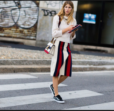veronika heilbrunner with sneakers