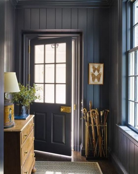mud room with vertical shiplap