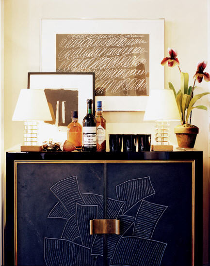 stylish home bar ideas and how to style a home bar aerin lauder sideboard bar