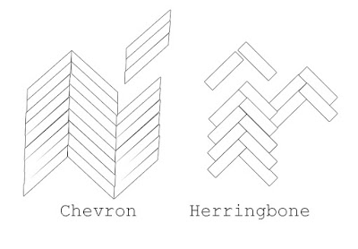 difference between chevron and herringbone flooring