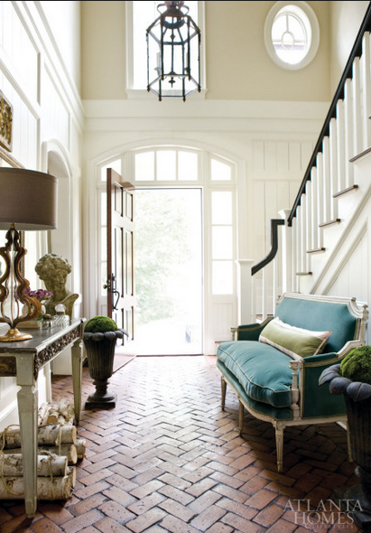 Rooms with chevron and herringbone floor ideas entryway via belle vivir