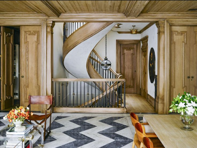 9 rooms with chevron and herringbone floors, Chevron Herringbone Floor Ideas-belle-vivir