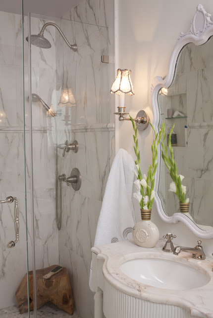 renovation tips for bathrooms Julie Paulino Design marble shower