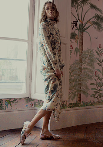 Aquazzura for de gournay Arizona muse