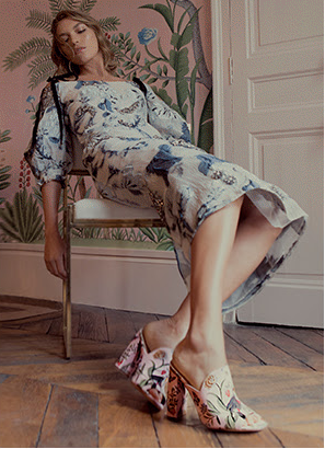 Aquazzura for de gournay shoes
