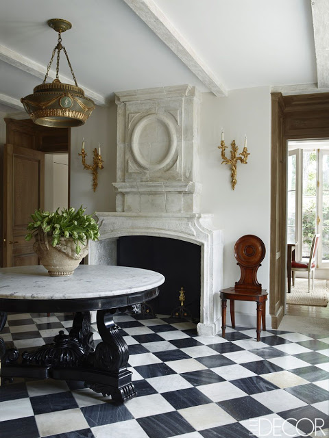 Emma Jane Pilkington Greenwich Home, with marble checkered floors