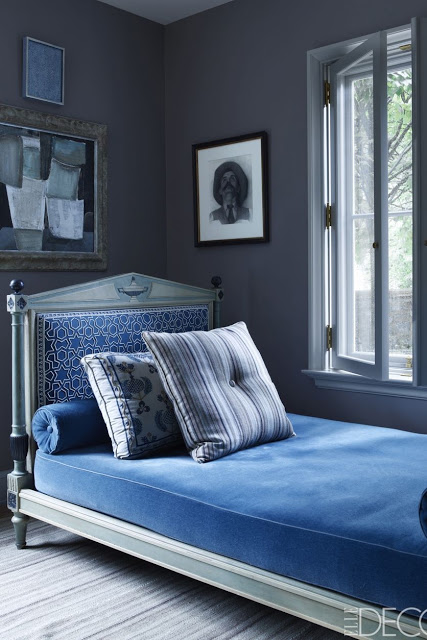 Emma Jane Pilkington Greenwich Home, study with daybed