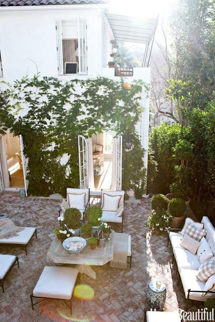 Mark D Sikes Outdoor patio design winter version via bellevivir blog