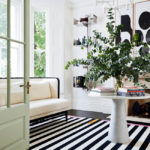 11 Stunning black and White Floors From Permanent to Temporary