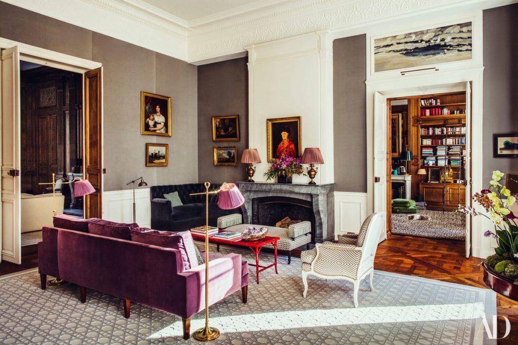 Pierre Sauvage Colorful Parisian Apartment An 18th