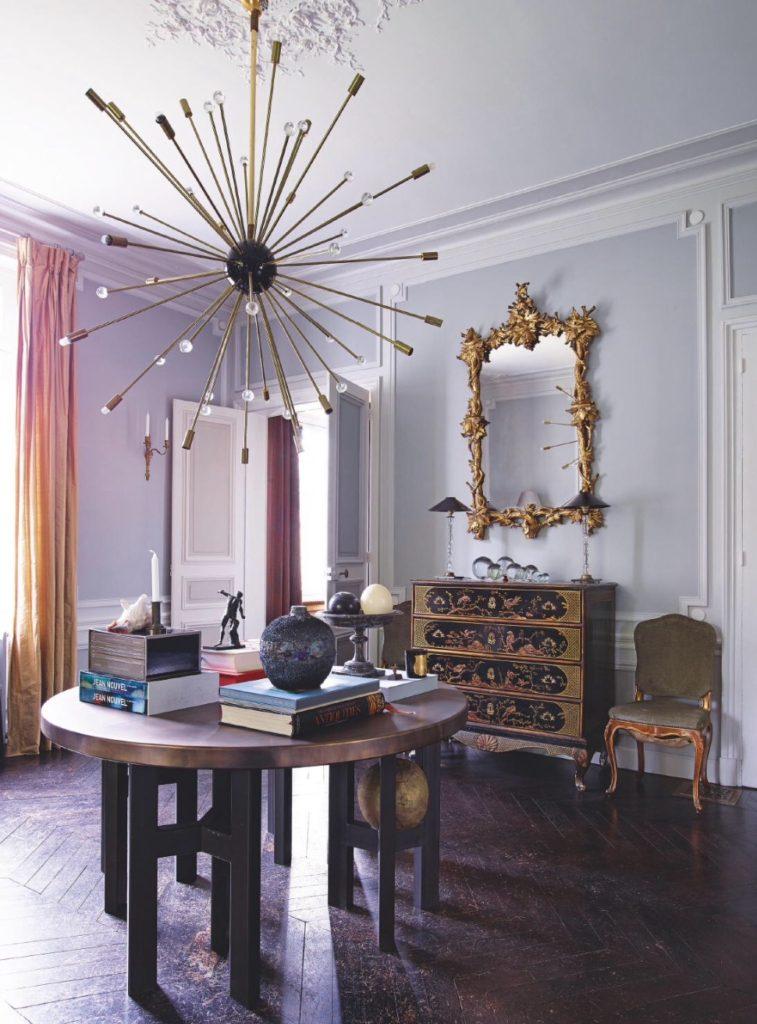 Jean Louis Denoit's Chateau in Chantilly foyer via blle vivir blog
