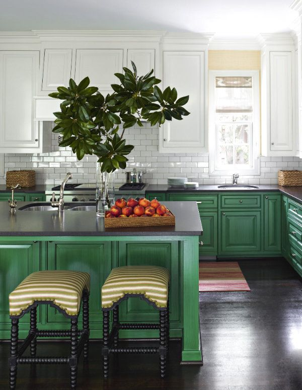 Two Tone Kitchens: Contrasting Cabinets |
