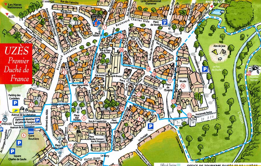 A Chic and Stylish Guide to Uzes, France. Map