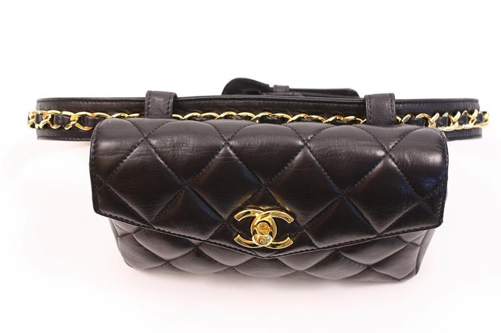 quilted chanel belt bag