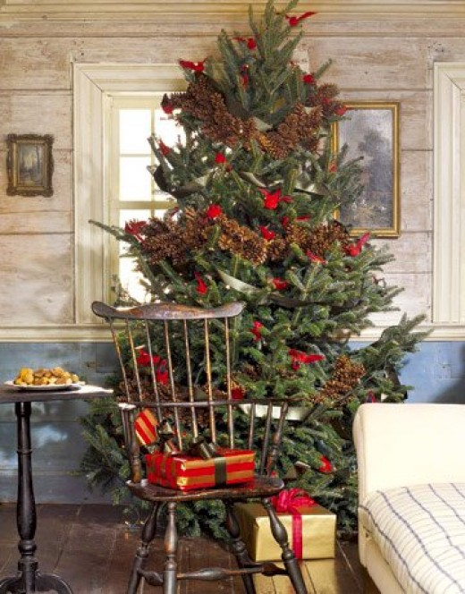 country christmas decorating ideas via belle vivir - Country Christmas Tree Decorations