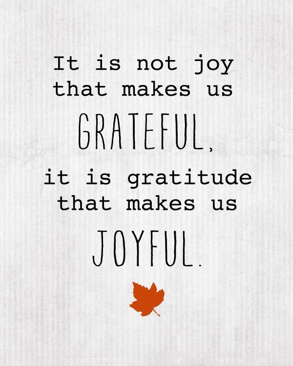 thanksgiving quote via Belle Vivir
