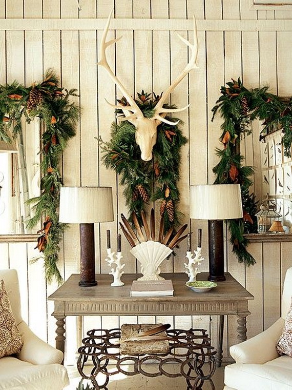 13 Living Rooms With Country Christmas Decorating Ideas