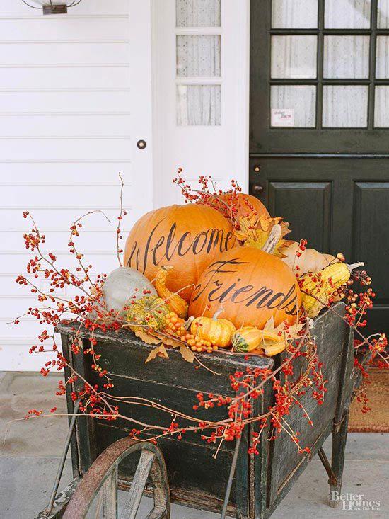 Thanksgiving decorating ideas via belle vivir & Thanksgiving Decorating Ideas From Tabletop To Main Entrance  
