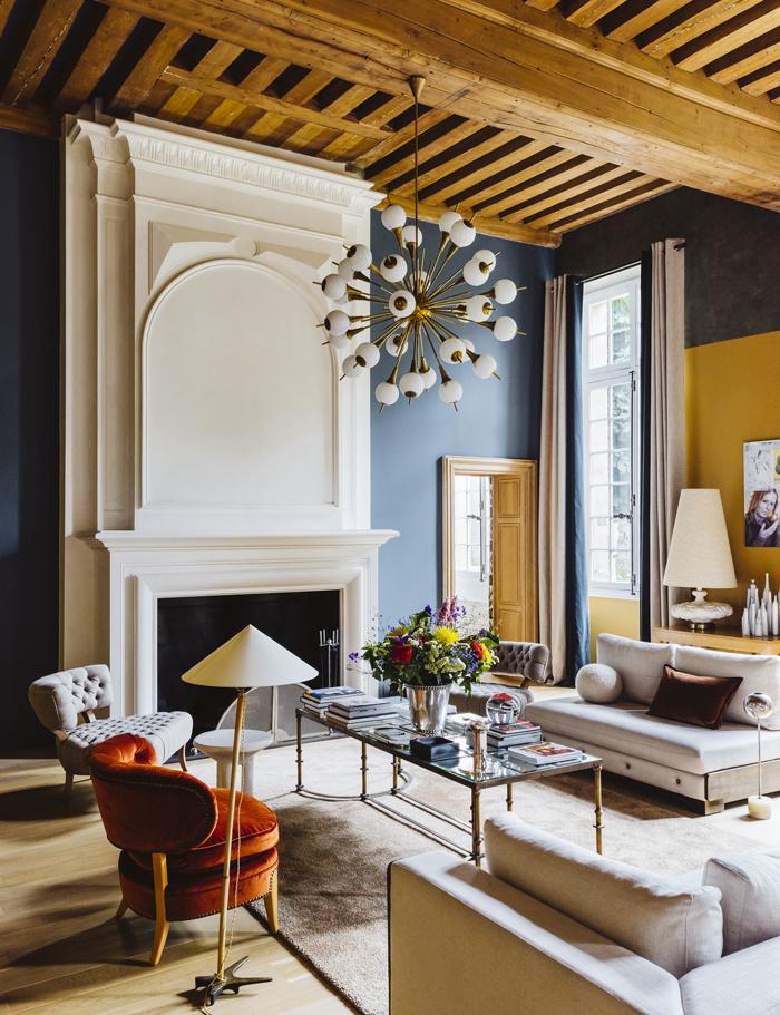 chic colorful interiors, colorful and elegant interiors via belle vivir
