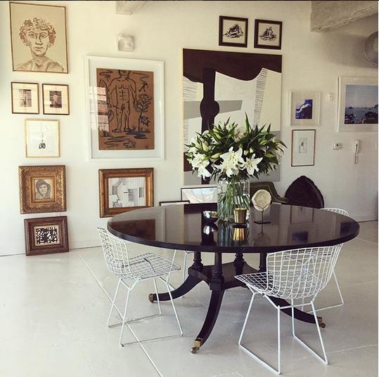 William Mclure gallery wall via belle vivir interior design blog