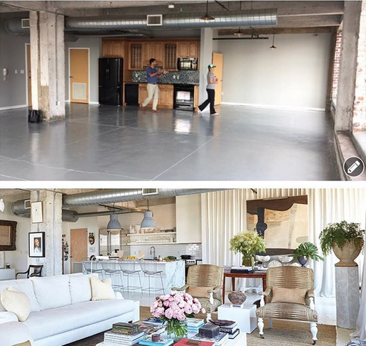 william mclure old apartment before and after via belle vivir interior design blog - Apartment Interior Design Blog